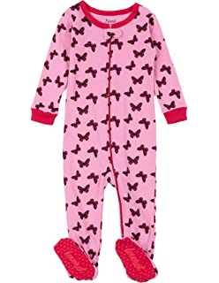 9f379f3804 Leveret Kids Pajamas Baby Boys Girls Footed Pajamas Sleeper 100% Cotton  (Size 6-