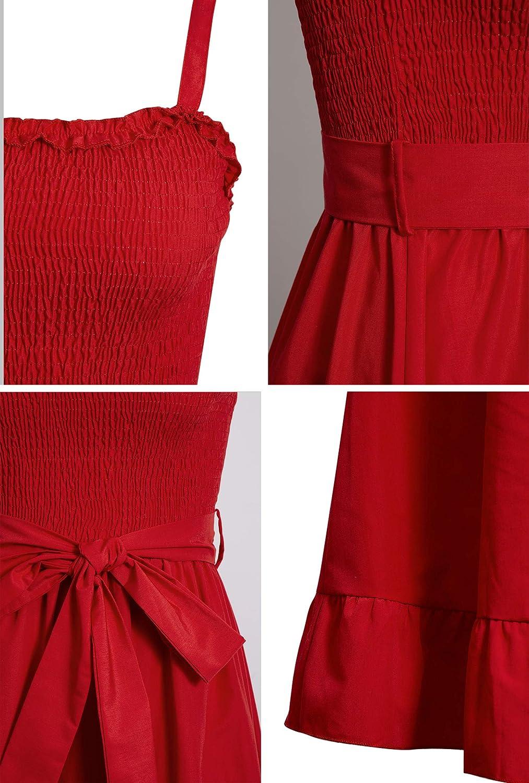 Sommerkleid Damen Elegant Casual Kurzarm Einfarbig Rundhals Party Kurze Kleider Strandkleid Minikleider
