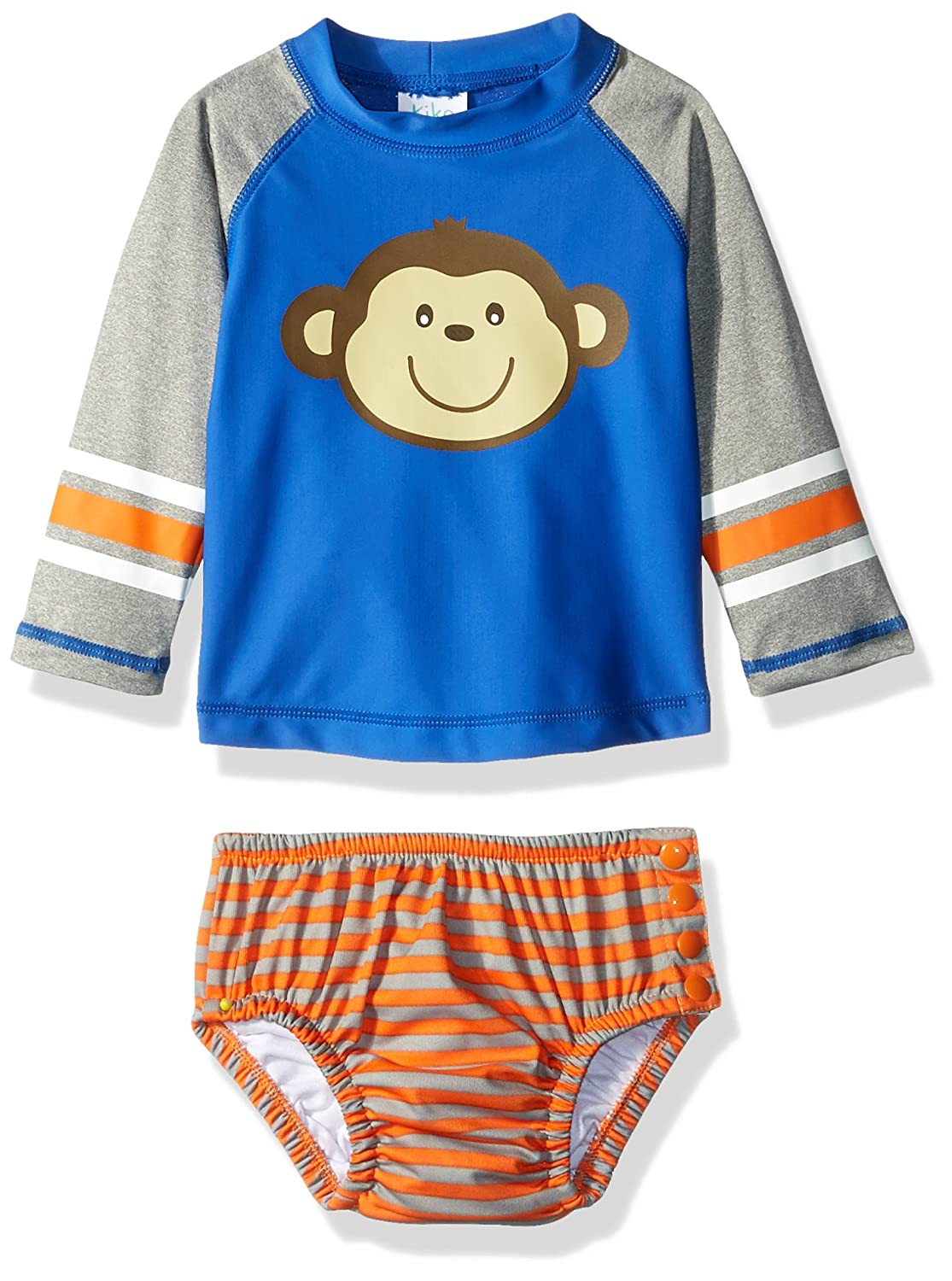 Kiko & Max Baby Boys Rashguard and Diaper Cover Swim Set