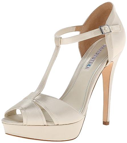 ae159a250f07 David Tutera Women s Joy Ivory Satin 8 M  Amazon.co.uk  Shoes   Bags