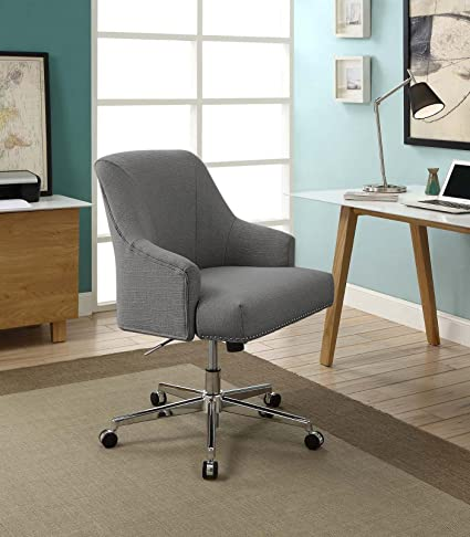 C Serta Leighton Home Office Chair Medium Gray