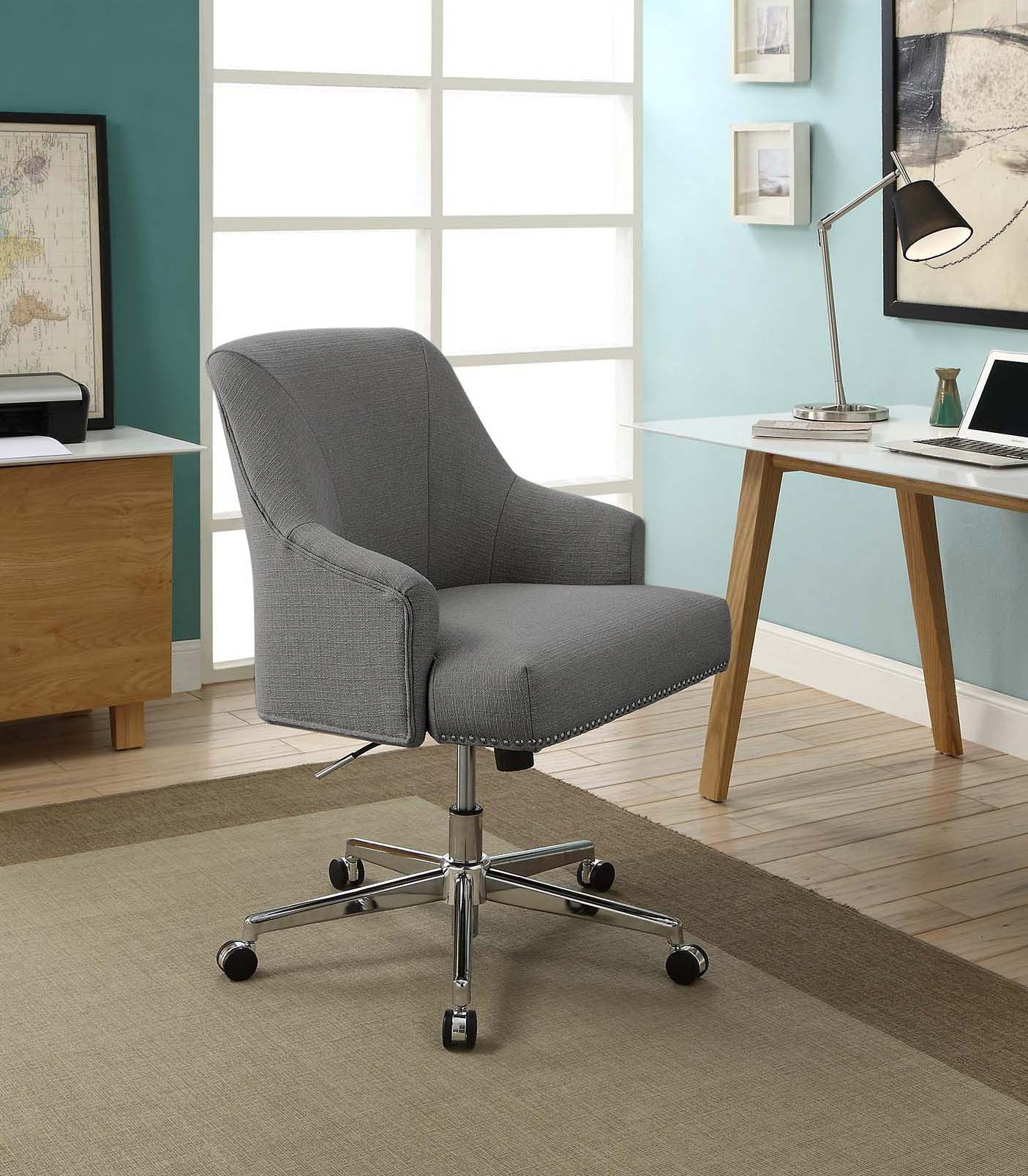 Serta Leighton Home Office Chair, Medium Gray by Serta