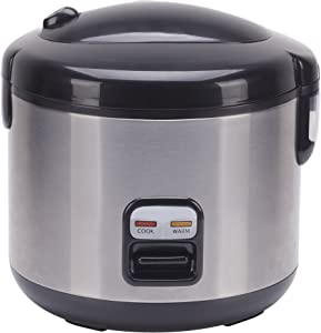 6 Cups Rice Cooker with Stainless Body