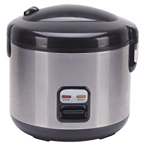 SPT SC-1202SS Rice Cooker with Stainless Body, 6-Cup