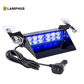 LAMPHUS SolarBlast SBWL26 Emergency Vehicle LED Dash Light [12W LED] [32 Flash Patterns  sc 1 st  Amazon.com & Amazon.com: LAMPHUS SolarBlast SBWL26 Emergency Vehicle LED Dash ... azcodes.com
