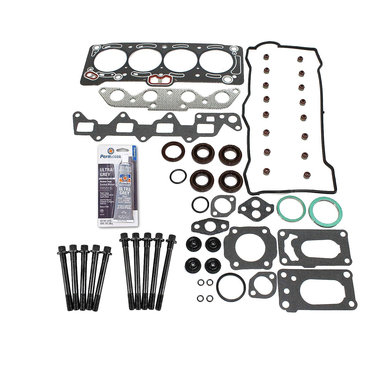 88-93 Toyota Corolla Geo Prizm 1.6L DOHC 16v 4AF 4AFE Head Gasket Set Bolt Kit Fits