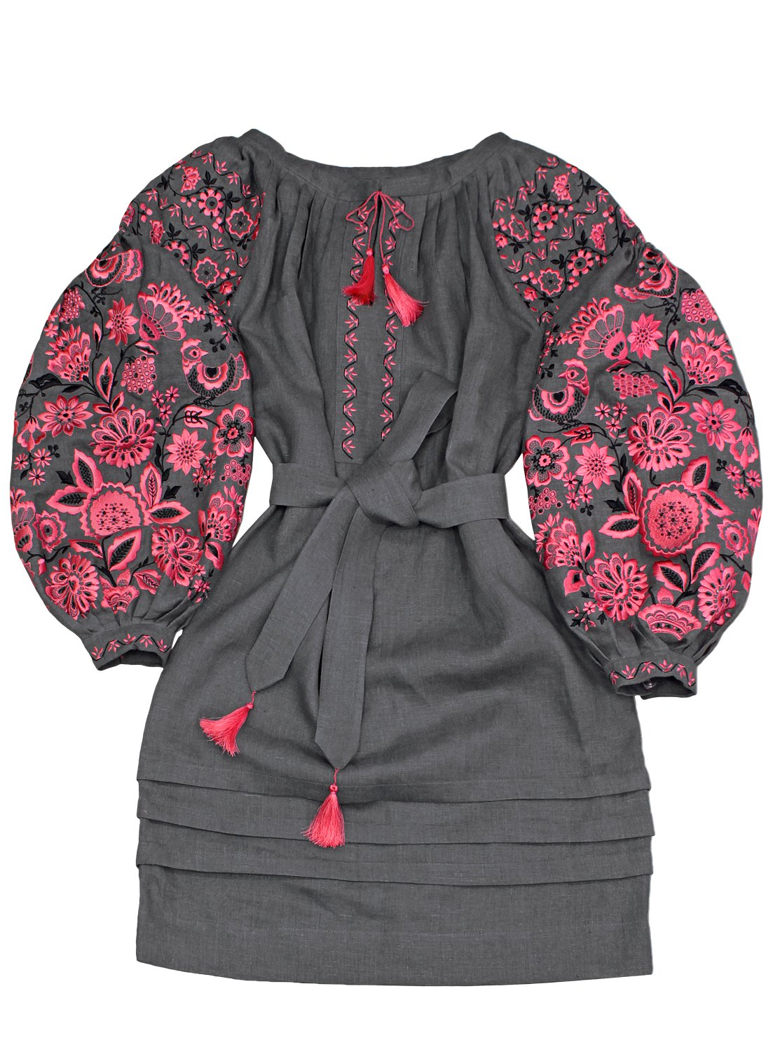"""Plahta Embroidered Boho Style Dress """"The Miracle Tree"""" (Small)"""