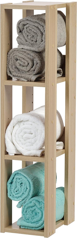 IRIS USA OWR-200N 3-Shelf Slim Open Wood Shelving Unit, Natural: Furniture & Decor