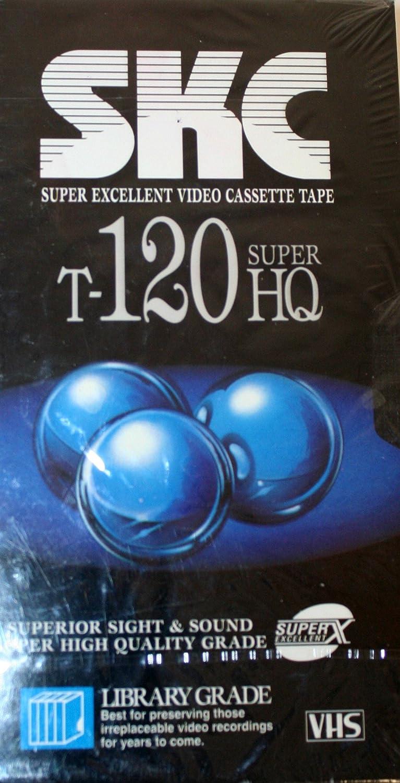 Amazon Com Skc T 120 Super Hq Blank Recordable Vhs Cassette Tapes