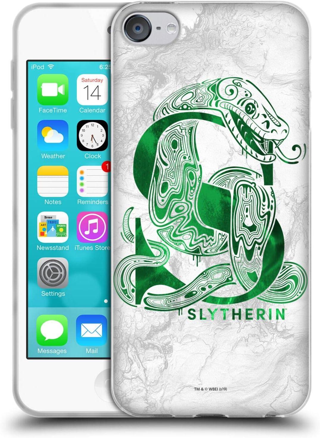 Head Case Designs Officiel Harry Potter Slytherin Aguamenti Deathly Hallows IX Coque en Gel Doux Compatible avec Touch 6th Gen//Touch 7th Gen