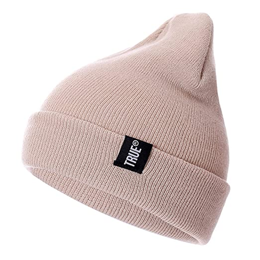 5b3b49f160 Letter True 10 Colors Casual Beanies for Men Women Fashion Knitted ...