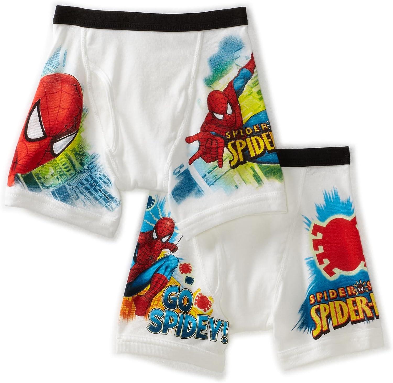 Spiderman 2 Pack Boys Boxers