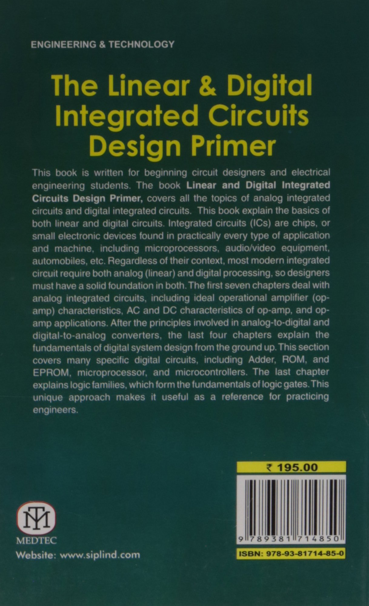 The Linear And Digital Integrated Circuits Design Primer Anil Circuit Ic Basic Tutorial Sudhakar 9789381714850 Books