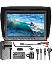 Neewer F100 7-inch 1280x800 IPS Screen Camera Field Monitor Kit: Supports 4k input,16:10 or 4:3 Adjustable Display Ratio,with 2600mAh Rechargeable Li-ion Battery and Charger for Nikon Canon DSLRs