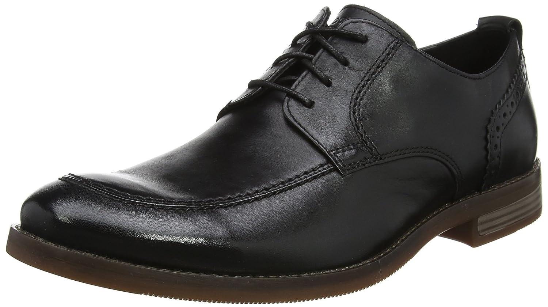 TALLA 44.5 EU. Rockport Wynstin Apron Toe Black, Zapatos de Cordones Oxford para Hombre