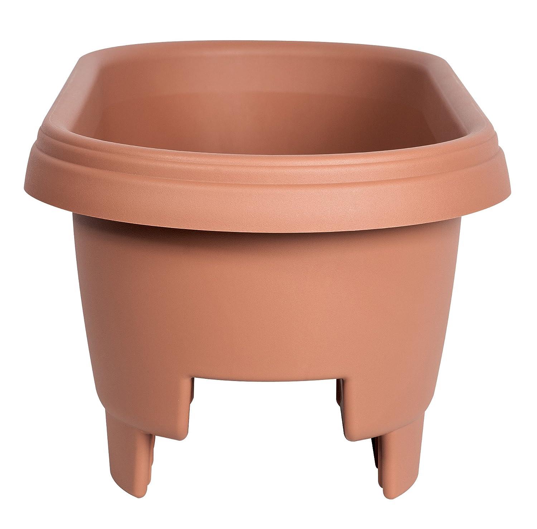 Amazon.com: Fiskars 477241 1001 Deck Rail Planter Box, 24 Inch, Color Clay:  Garden U0026 Outdoor