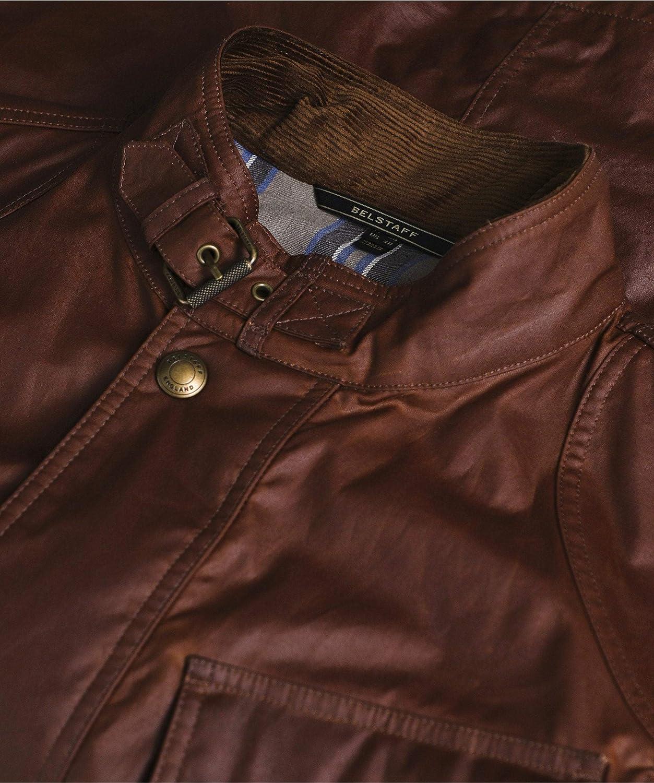Belstaff Fieldmaster - Chaqueta de algodón Encerado para Hombre, Color marrón: Amazon.es: Ropa y accesorios
