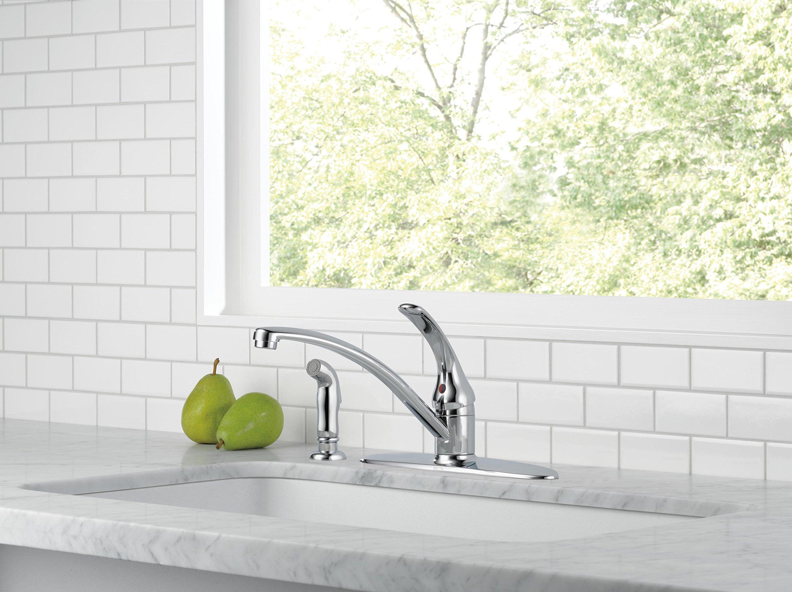 Delta B4410LF Foundations Single-Handle Kitchen Faucet, Chrome