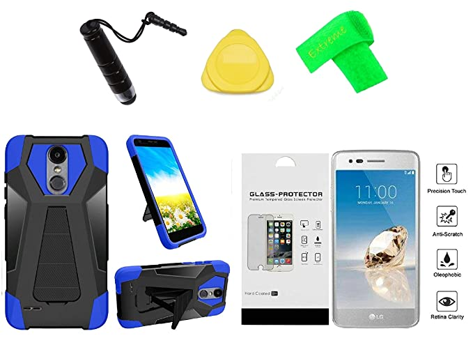 best website 415ac 186e3 Amazon.com: T-Stand Hybrid Cover Phone Case + Tempered Glass + ...