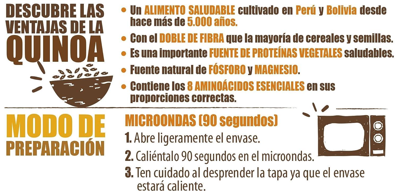 Brillante Benefit Legumbres Quinoa Verduras 250G - [Pack De 16] - Total 4 Kg: Amazon.es: Alimentación y bebidas