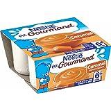 Nestlé Bébé P'tit Gourmand Caramel - Laitage dès 6 mois - 4 x 100g - Lot de 6