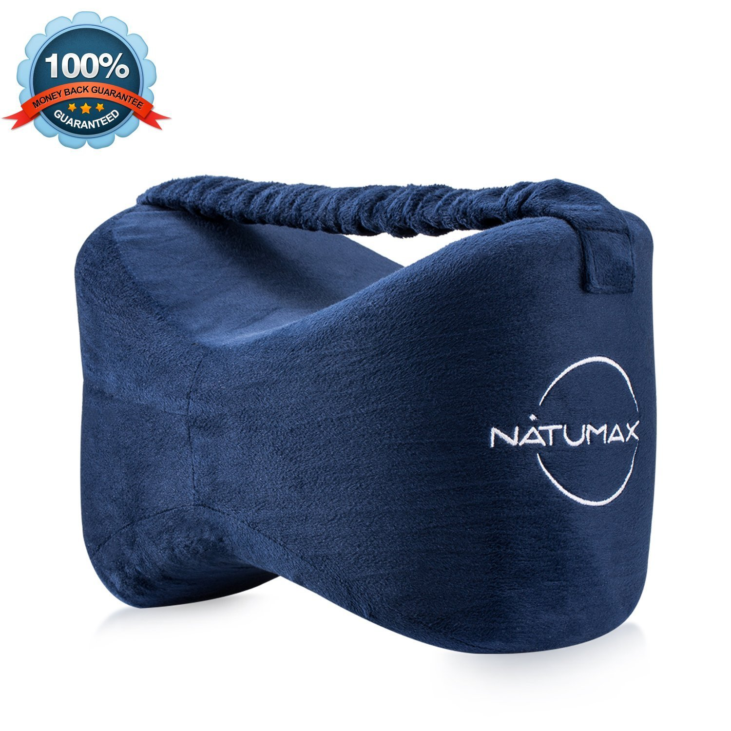 NATUMAX Knee Pillow for Side Sleepers - Sciatica Pain Relief - Back Pain, Leg Pain, Pregnancy, Hip and Joint Pain Memory Foam Leg Pillow with Washable Cover + Free Sleep Mask and Ear Plugs by NATUMAX (Image #7)