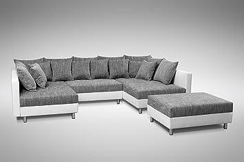 Kuchen Preisbombe Sofa Couch Ecksofa Eckcouch In Weiss Hellgrau