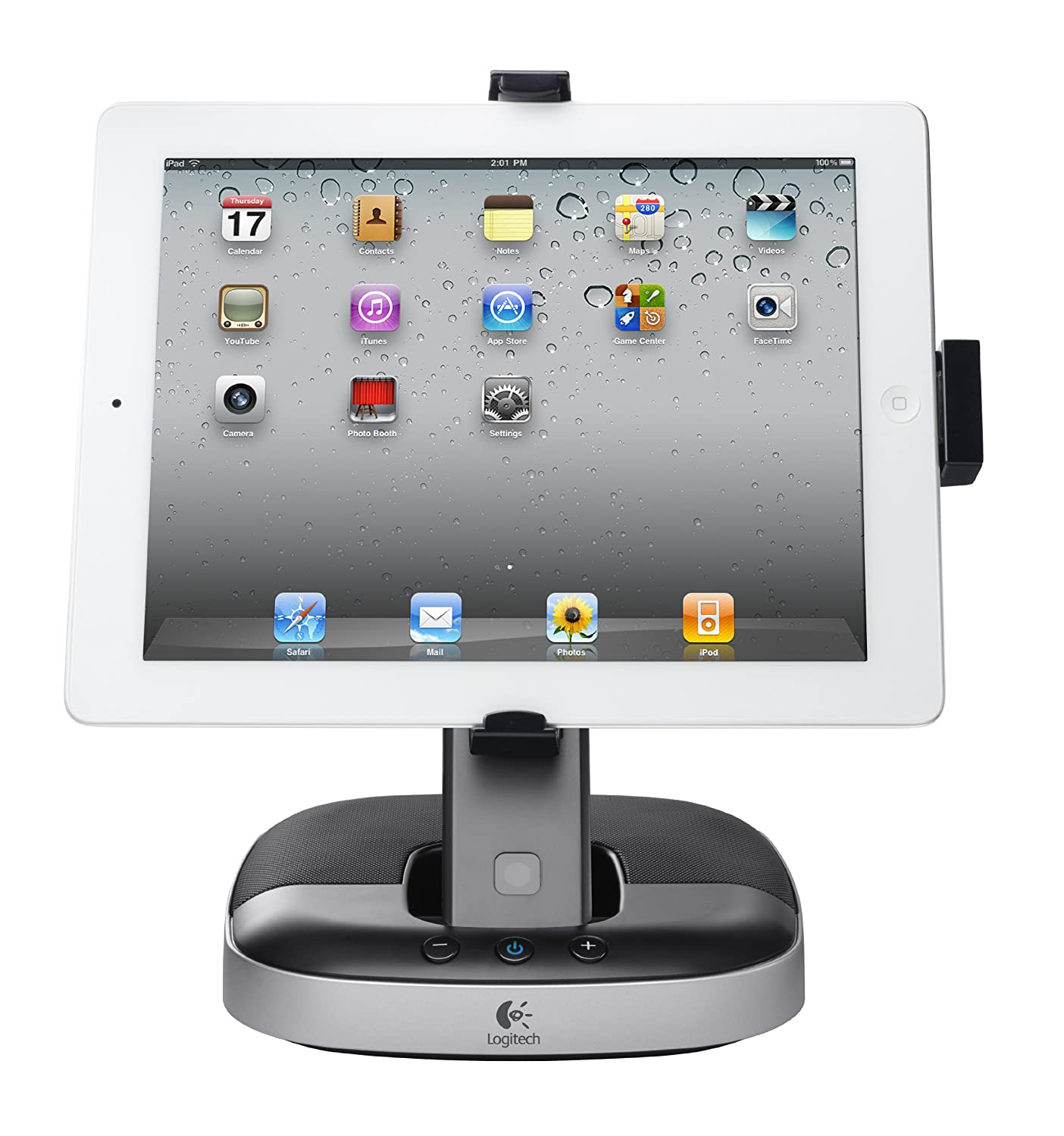 b51f0ebc63 Amazon.com  Logitech Speaker Stand with Charging Station for iPad   Computers   Accessories