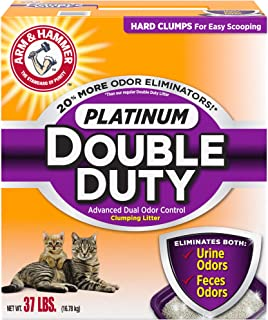 product image for ARM & HAMMER Platinum Double Duty Clumping Cat Litter, 37lb