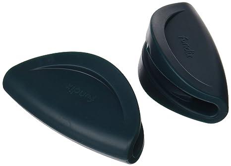 Castey-Juego de asas protectoras de silicona, azul cobalto, 36-40