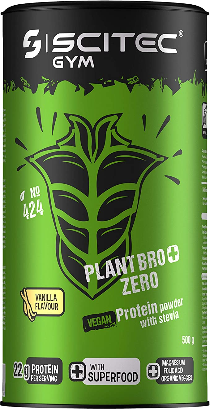 Scitec Gym Plantbro+ Zero Protein powder, vainilla - 500 g ...