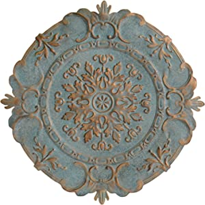 Stratton Home Decor Blue European Medallion Wall Decor, 30.50 W X 0.50 D X 30.50 H
