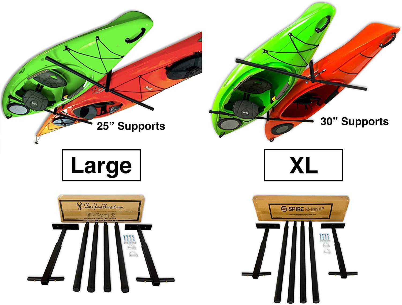 Hi-Port 2 Storage Hanger Overhead Mount 2 Kayak Ceiling Rack Adjustable