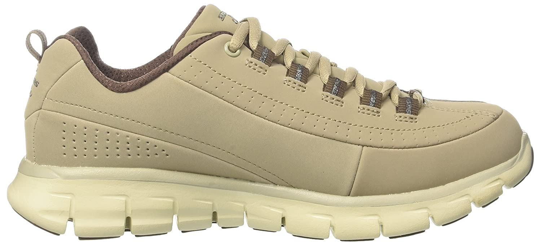 Skechers (SKEES) SYNERGY - TREND SETTER - Zapatillas de deporte para mujer, color beige, talla 36