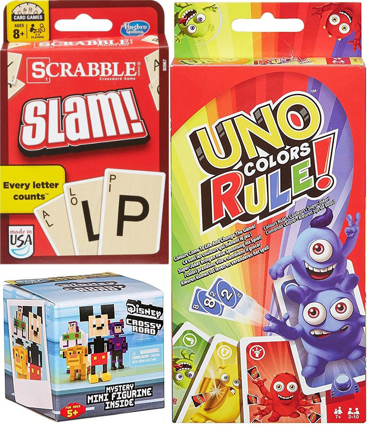 Amazon Ayb Double Pack Slam Card Game Triple Pack Uno Colors
