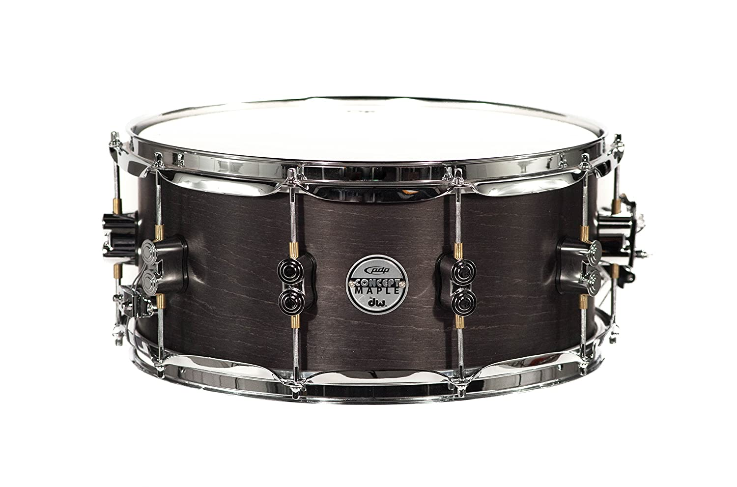 PDP By DW Black Wax Maple Snare Drum 6.5x14 Pacific Drums PDSN6514BWCR