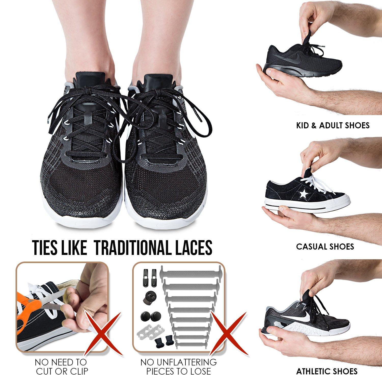 f1b520f4754a Amazon.com: The Original Stretchlace | Elastic Shoe Laces | Flat Stretch  Shoelaces: Shoes
