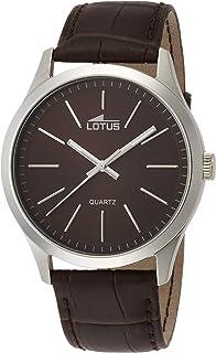 7279360a554c Lotus Reloj Analógico para Hombre de Cuarzo con Correa en Cuero 15961 2