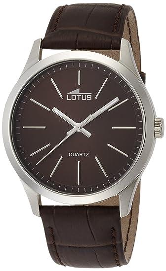 6a14769dd538 Lotus Reloj Analógico para Hombre de Cuarzo con Correa en Cuero 15961 2   Amazon.es  Relojes