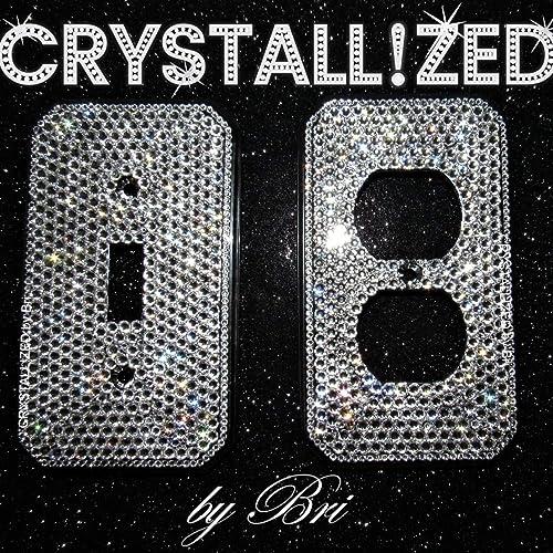 d72ca2dfd010d4 Amazon.com  Swarovski FULLY CRYSTALLIZED Switch Plate Toggle Rocker ...
