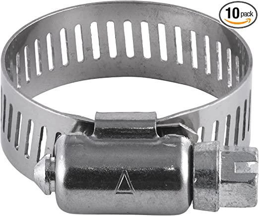 """1 13//16/"""" to 2 3//4/"""" OD Worm Gear Stainless Steel Pipe Fitting Hose Clamp 6//PK"""