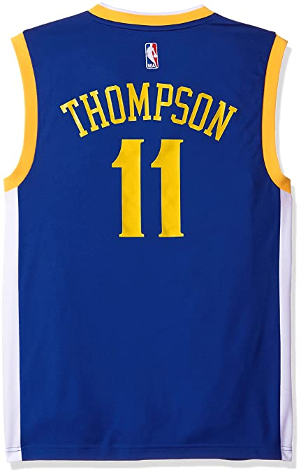 2f067b6d8 NBA Golden State Warriors Klay Thompson  11 Men s Replica Jersey ...