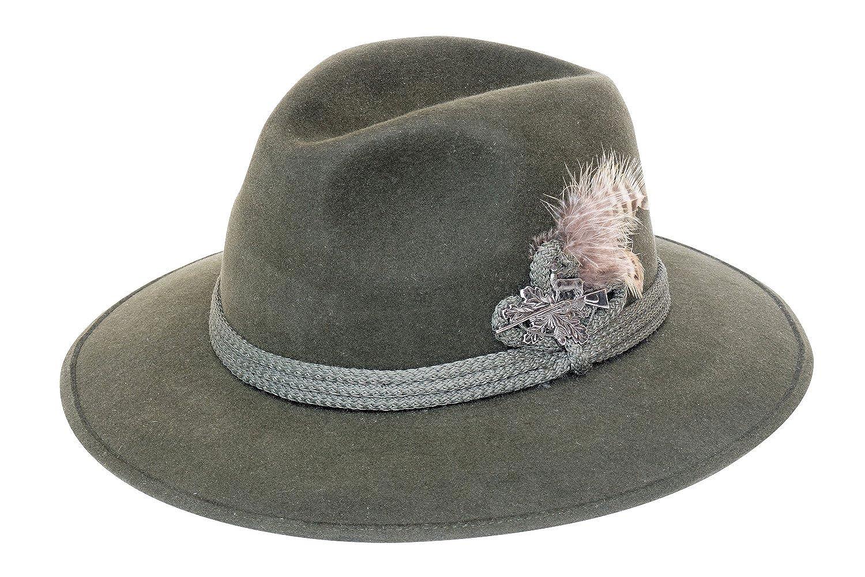 f75861903a172 Amazon.com  Felt Depot Munich Wide Brim Rabbit Fur Felt Hat  Clothing