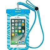 防水ケース Auwet 【ネックストラップ付属】潜水 お風呂 水泳 砂浜 水遊びなど用防水携帯ケースフォンケース・カバー IPX8認定獲得 iPhone X/6s/6/Plus/SE とAndroid SAMSUNG Galaxy S8/S7 edge/SONY Xperia/HUAWEI スマホ防水ケースなど6インチ以下のスマホに対応