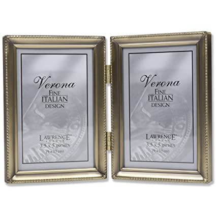 Amazon Lawrence Frames 11435d Antique Gold Bead Hinged Double