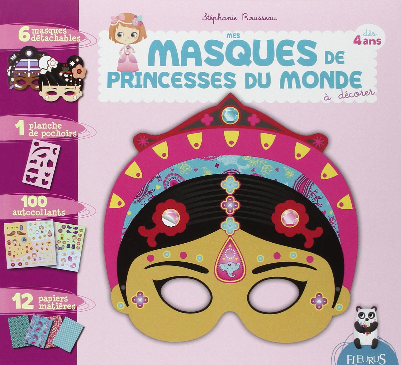 Amazon Fr Mes Masques De Princesses Du Monde A Decorer Stephanie