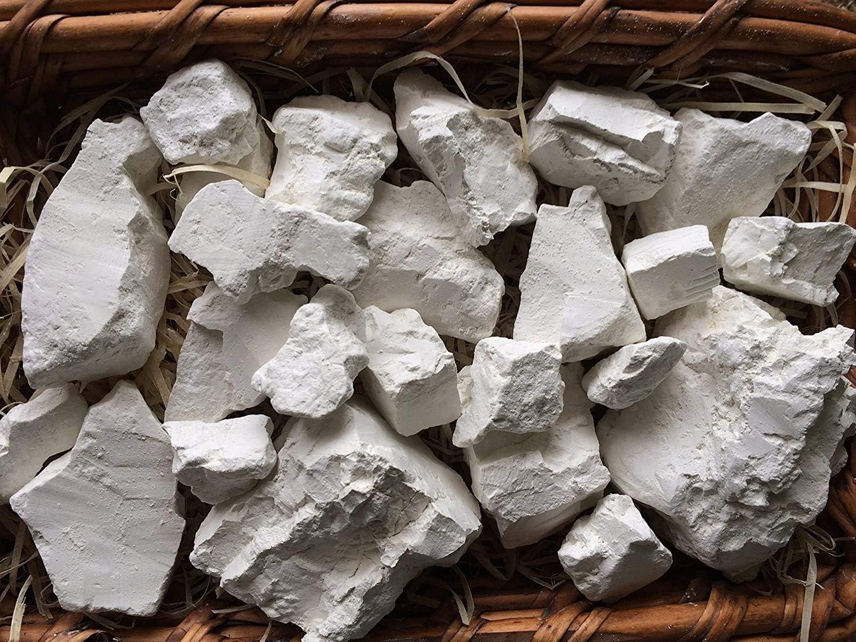 Uclays Kaolin Edible Clay Chunks (lump) Natural for Eating (Food), 4 oz (113 g)