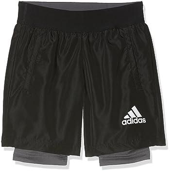 a892f33397 adidas Boys' Yb 2-in-1 Shorts: adidas Originals: Amazon.co.uk ...
