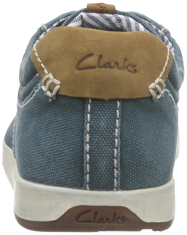 Clarks Norwin Vibe Herren Sneaker OLIVE CANVAS Herrenschuhe