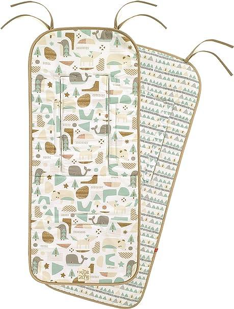 Jané - Colchoneta para Silla de Paseo Reversible 100% Algodón, Universal, Transpirable: Amazon.es: Bebé